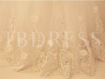 Sweetheart Beaded Appliques Ball Gown Wedding Dress