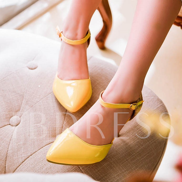 Pointed Toe Patchwork Stiletto Heel Sequins Women's Pumps