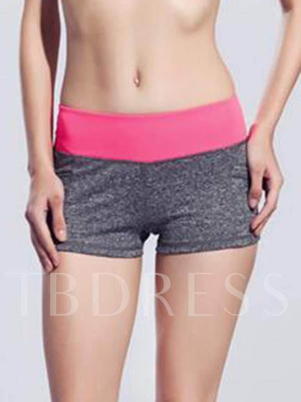 Mixed Color Form-Fitting Women's Shorts