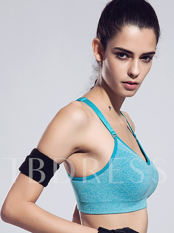 Keyhole Back Adjusted Straps Women Sports Bra