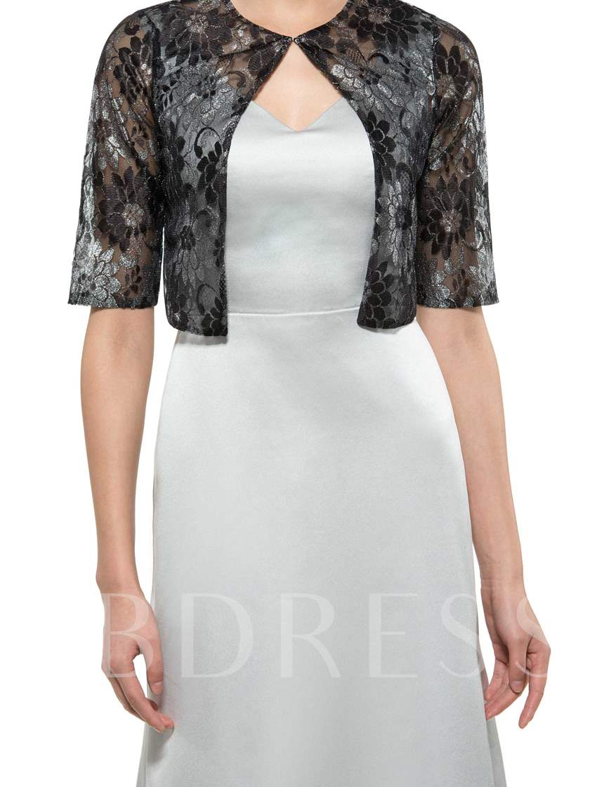 Square Neck Mother of the Bride Dress with Lace Jacket