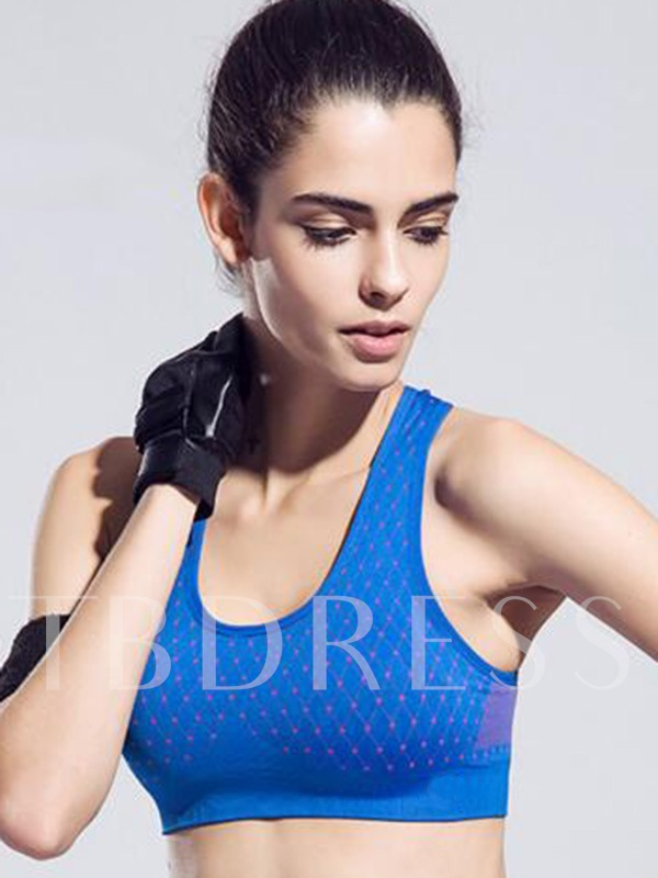Geometric Pattern Y-Back Women Sports Bra