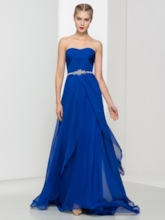 Sweetheart A-Line Pleats Beading Prom Dress