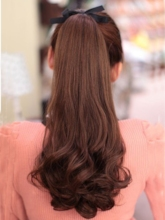 Long Big Wave Women Synthetic Ponytail