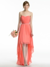 Sweetheart Beading High-Low Bridesmaid Dress