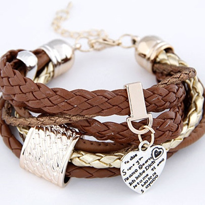 Multilayer Knitted Metal Quality Women's Bracelet