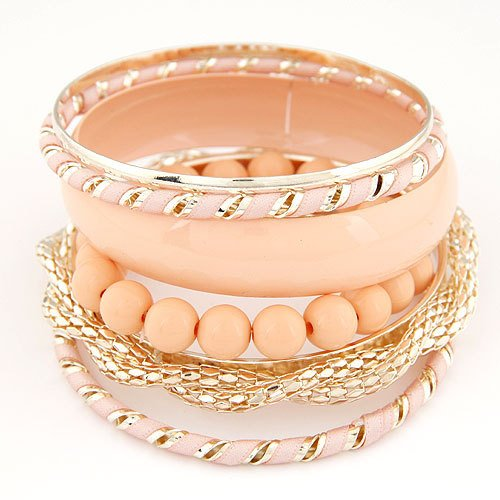 Metal Candy Color Multilayer Bracelet