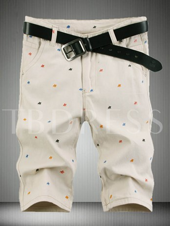 Men's Shorts with Knit Decorated