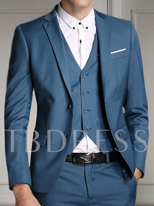 Men's Best Men Suit with Solid Color