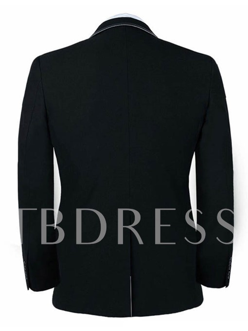 Men's Groom Suit with Contrast Collar
