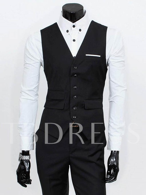 Men's Three Pieces Suit with Front Collar
