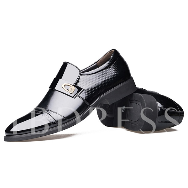Pointed Toe Square Heel Low-Cut Upper Men's Oxfords