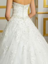 Appliques Beading Sweetheart Ball Gown Plus Size Wedding Dress