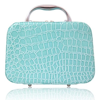 Sweet Croco Cube Cosmetic Bag
