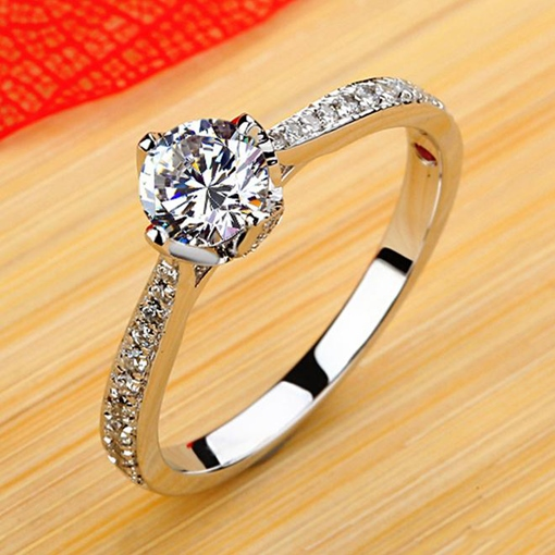 Pure Manual Mosaic Diamond-Shaped Ring