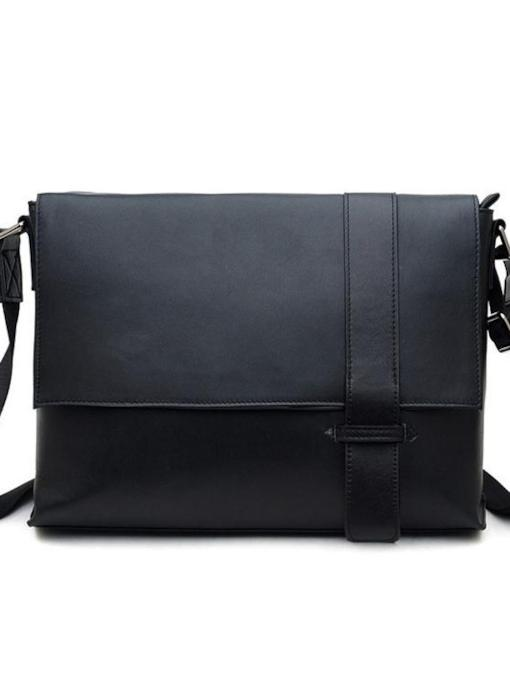 Leather Plain Fashion Rectangle Crossbody Bag