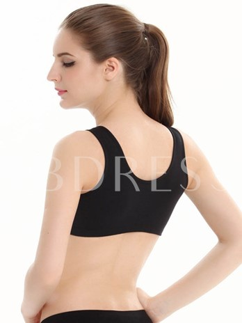 Solid Color Hole Women Sports Bra