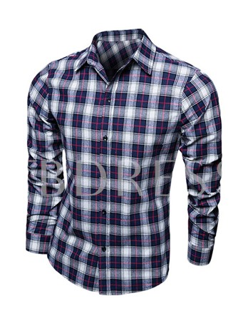 Men's Shirt with Mid Check High Premium