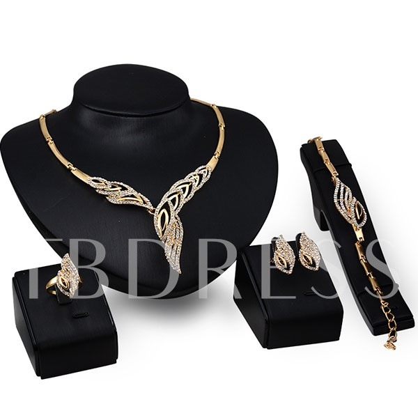 Foxtail Shape Women's 4 Piece Jewelry Set