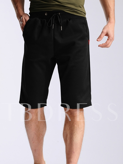 Men's Sports Shorts with Lace-Up Waist