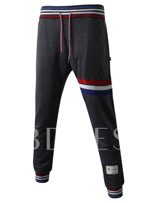 Men's Pants with Stripe Decorated