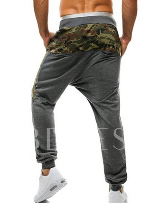 Men's Patchwork Pants with Relaxed Fit