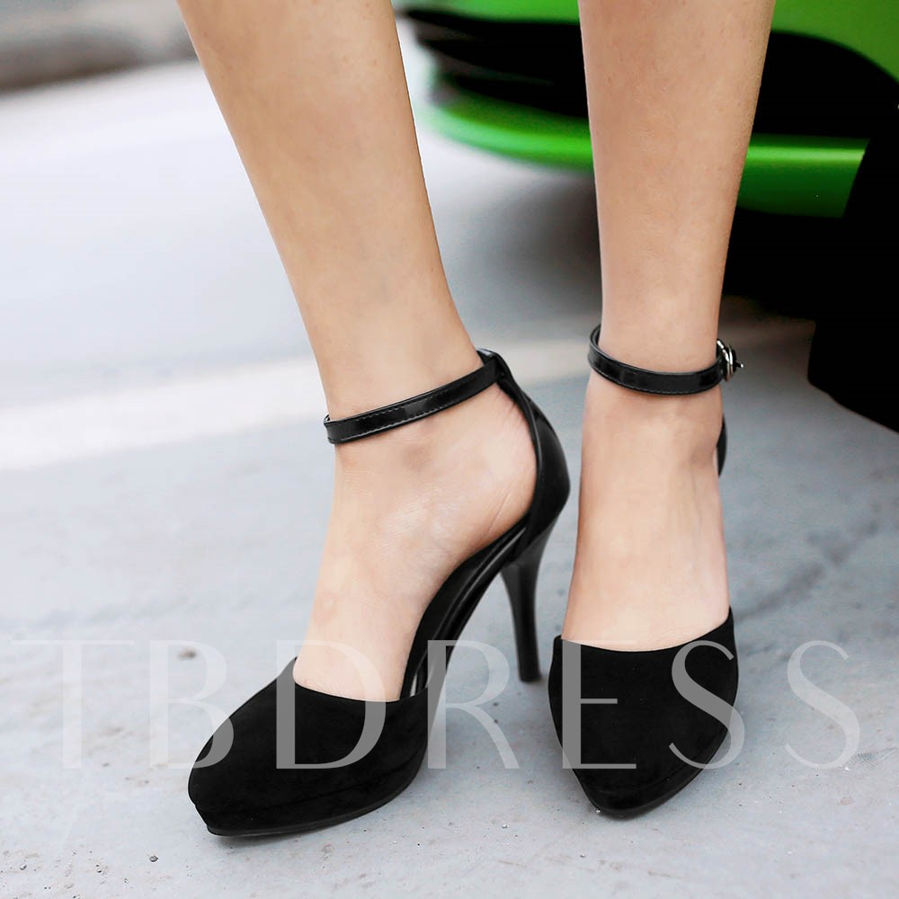 Buy Pointed Toe Stiletto Heel Patchwork Platform Women's Pumps, Spring,Summer,Fall, 11660818 for $37.99 in TBDress store