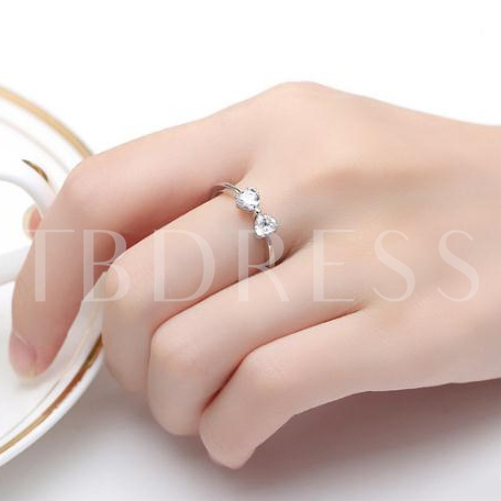 Bowknot Design Silver Plated Ring