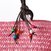 Rainbow Colored Starfish Straw Bag
