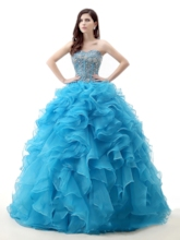 Sweetheart Lace-Up Beading Ball Gown Quinceanera Dress