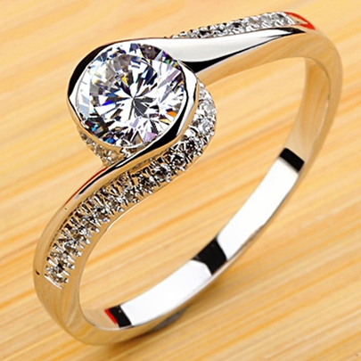 Infinite Love Diamond Shaped Ring