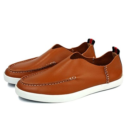 Slip-On Round Toe Plain Men's Loafers