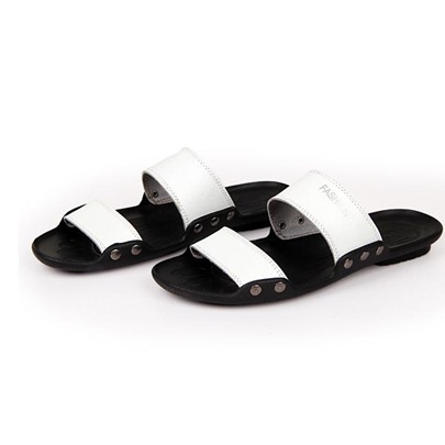 Flat Heel Plain Buckle Men's Slippers