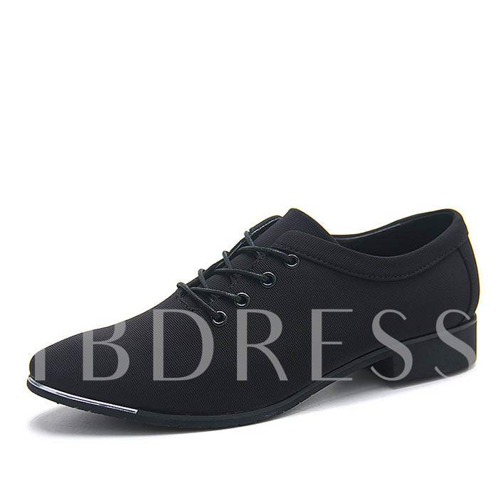 Square Toe Cross Strap Pointed Toe Men's Oxfords