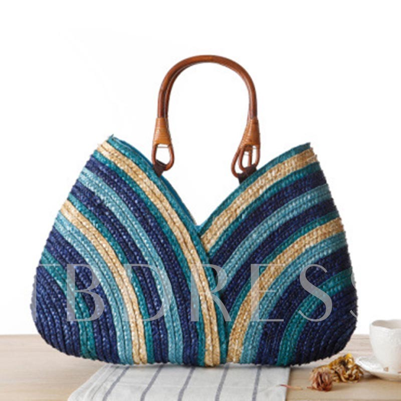 New Creative Modelling with Bowtie Women's Straw Bag