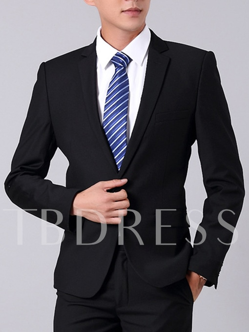 Men's Work Suit with Solid Color