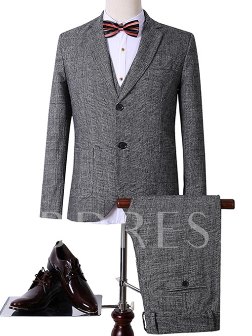 Men's Work Suit with Cotton Blends Fabric