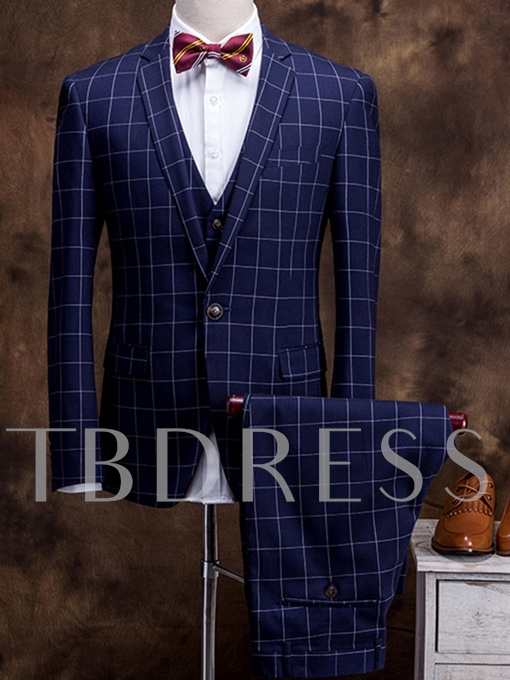 Men's Casual Suit with Three Pieces