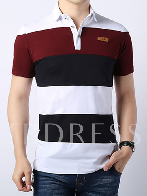 Men's Polo Shirt with Contrast Color