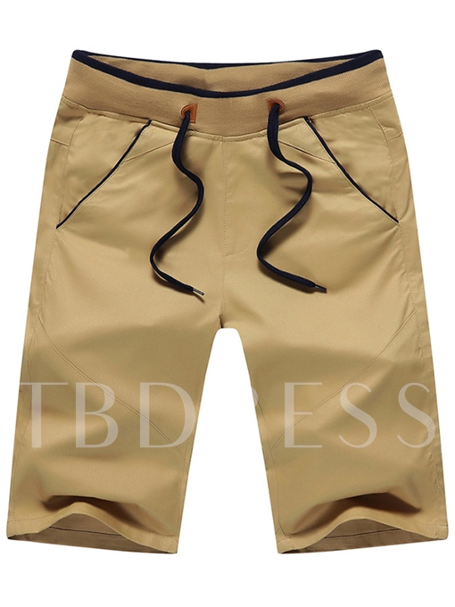Men's Shorts with Lace-Up Contrast Waist