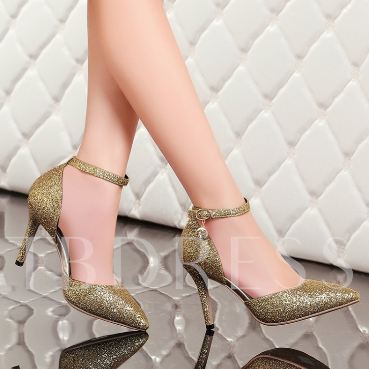 Pointed Toe Stiletto Heel Sequins Women's Pumps