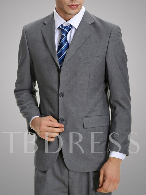 Men's Business Suit with Single Breasted