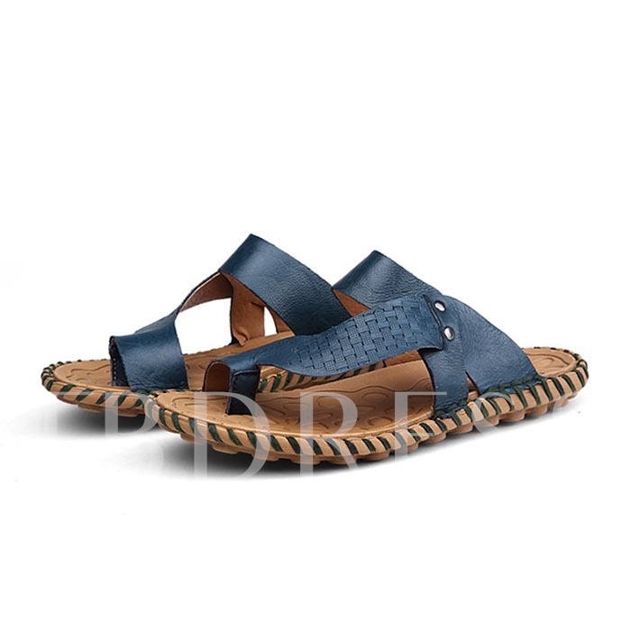 Toe Ring Flat Heel Men's Beach Slippers