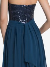 Sweetheart Long Sequins Bridesmaid Dress