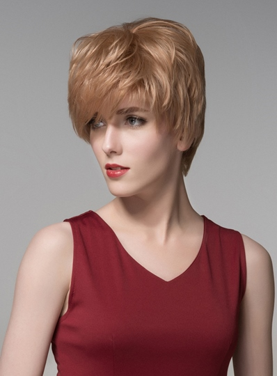New Layered Short Straight Capless Human Hair Wig 6 Inches