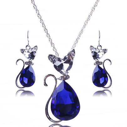 Lovely Cat Princess Jewelry Set for Women