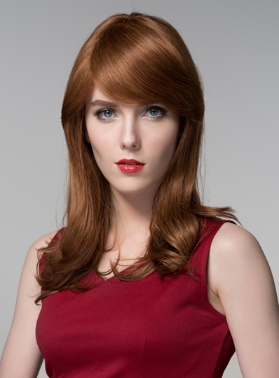 Attractive Long Bottom Wave Capless Human Hair Wig 22 Inches