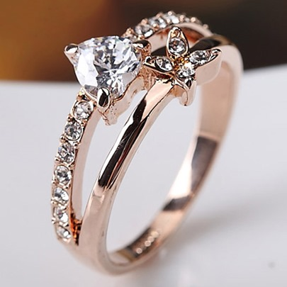 Trends Person Heart and Mum Ring