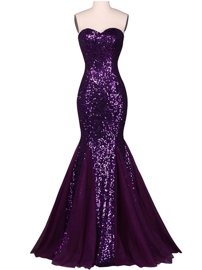 Sweetheart Mermaid Squins Floor-Length Evening Dress