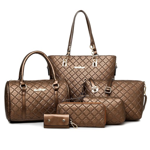 Calm Quilted Lining Embossed Women's Bag Sets